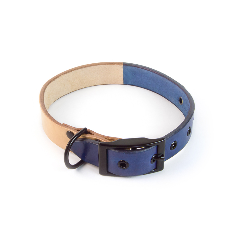 Blue Two-Tone Dog Collar | Accessory | Cord Shoes + Boots