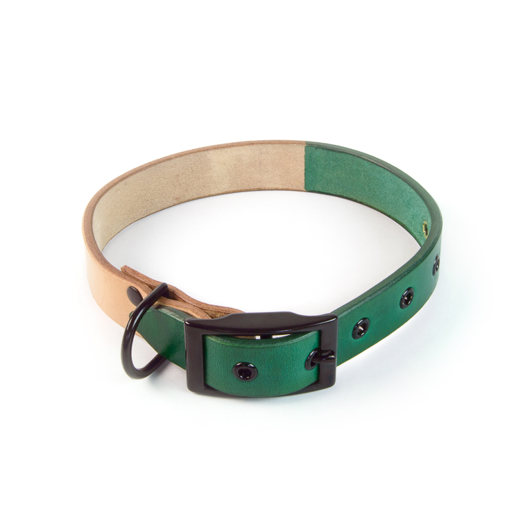 Green Two-Tone Dog Collar | Accessory | Cord Shoes + Boots