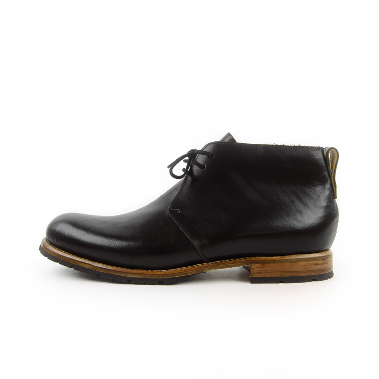 Men's Black Easton Boot | Cord Shoes + Boots