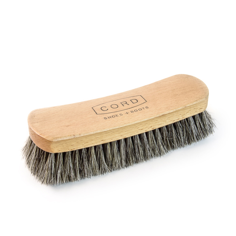 Horsehair Shoe Shine Brush (Large) | Accessory | Cord Shoes + Boots