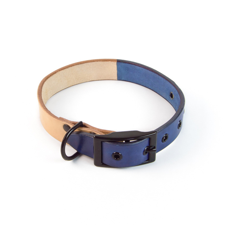 Duotone Dog Collar in Blue | Cord Shoes and Boots | Made in the USA