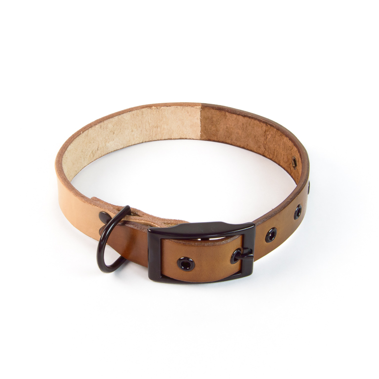 Duotone Dog Collar in Brown | Cord Shoes and Boots | Made in the USA