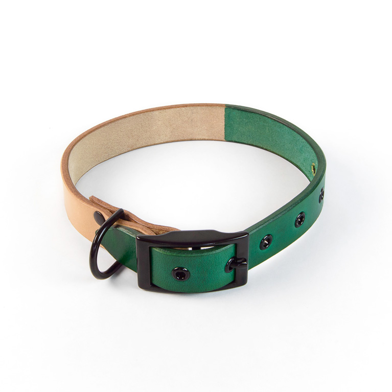 Duotone Dog Collar in Green | Cord Shoes and Boots | Made in the USA