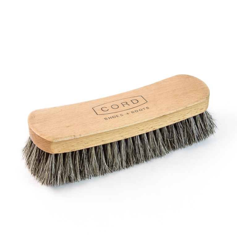 Horsehair Shoe Shine Brush (Large) | Cord Shoes and Boots | Made in the USA