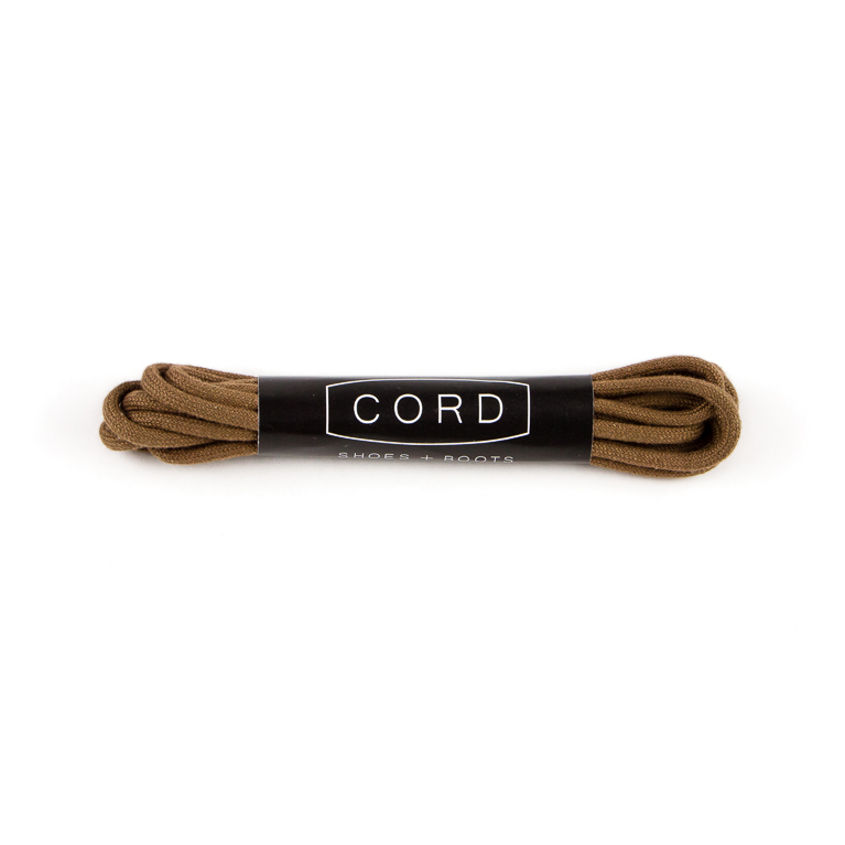 Light Brown Shoelaces | Cord Shoes and Boots | Made in the USA